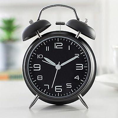 Finebo Mignon Mini Métal Petit Réveil électronique Diamètre