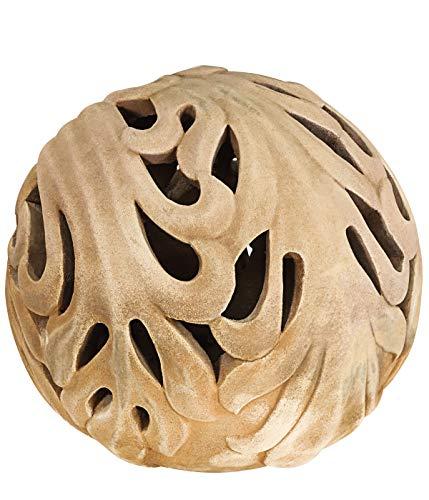 Dehner Deko-Objekt Kugel, ca. Ø 23 cm, Höhe ca. 21 cm, Terrakotta