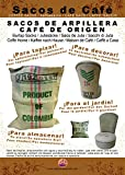 SABOREATE Y CAFE THE FLAVOUR SHOP Telas para Tapizar Saco Grande de Café de Origen Reutilizado para Tapizar de Yute Arpillera 100% Natural (70 cm x1 metro)