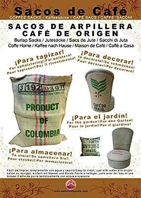 Se envían de forma aleatoria en la modalidad de surtidos 100% Planta NATURAL DE YUTE: Saco de Arpillera Grande reutilizado de calidad natural 100% utilizado anteriormente para transporte de granos de café. Tela Ecológica Orgánica de alta RESISTENCIA:...