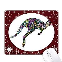 オーストラリアのカンガルーの色の画像の描画 オフィス用雪ゴムマウスパッド