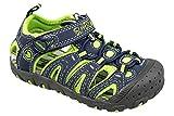 gibra® Kinder Trekking Sandalen mit Klettverschluss, dunkelblau/neongrün, Gr. 32