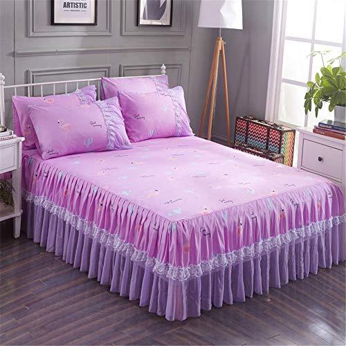 huyiming Gebruikt voor Eenvoudige zomer 1.5m1.8m eenpersoonsbed prinses jurk beddeksel/set van bedrok