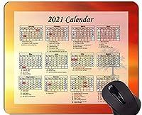 カレンダー2021年マウスパッド、サンセットドーンサンオフィスマウスパッド