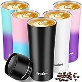 Newdora Termo Cafe, 380ml sin BPA Botella Agua de Acero Inoxidable, Fácil de...