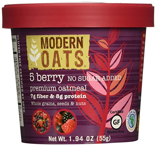 Modern Oats 5 Berry No Sugar Added Premium Oatmeal (Pack of 12)