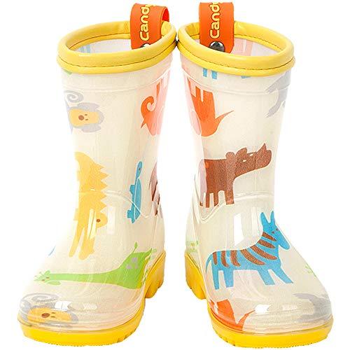 Candy-Baby Kids Boys Girls PVC Rain Boots/Rain Boots for Children (150mm (US Kids 8~8.5), Safari)