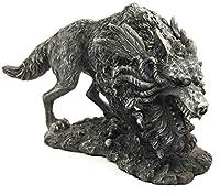 Gifts & Decor Viking Norse Mythology Fenrir Vánagandr Giant Wolf Figurine Poetic Edda Statue