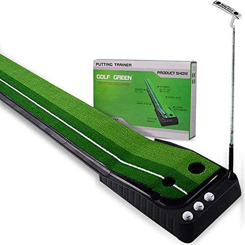 Bento Exterior Golf Pad 2,5 M, Golf Putting Sistema de Retorno de Bolas Mat Hierba Verde césped automática Poner Cubierta,Verde