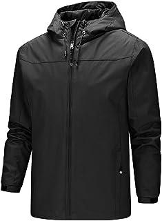 ELISCO Men's Waterproof & Breathable Hooded Rain Jacket