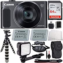$279 » Canon PowerShot SX620 HS Digital Camera (Black) with Advanced Accessory Bundle - Includes: SanDisk Ultra 64GB Memory Card,...