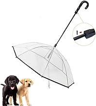 DealMux Paraplu voor kleine honden, waterdichte hondenriem voor puppy's, paraplu voor honden met hondenriem, paraplu voor ...