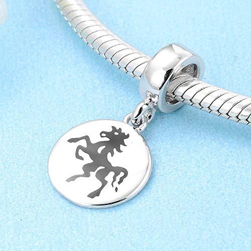 DASFF 12 paard van het Chinese sterrenbeeld 925 sterling zilver fijne ronde vorm hanger korrel origineel charm armband sieraden make-ing