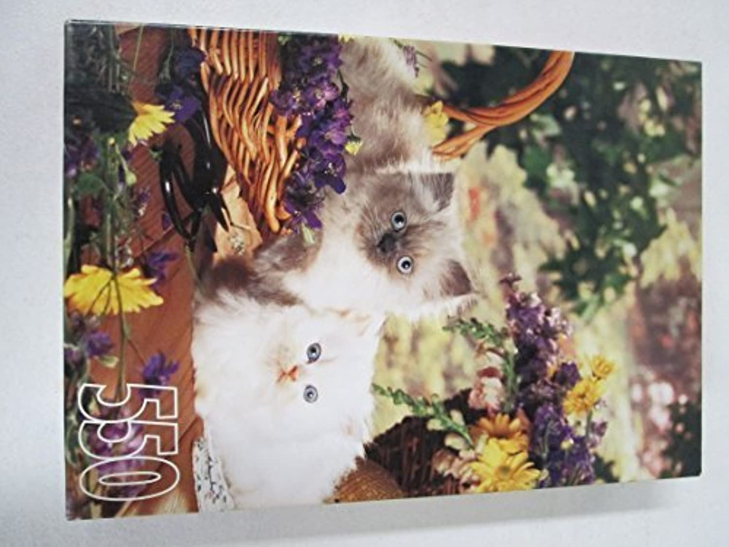 pink Art Kittens and Flower Baskets 550 Piece Puzzle by pink Art