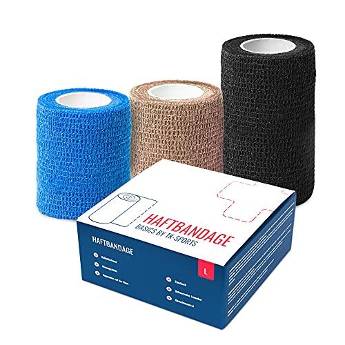 Haftbandagen BASICS BY TK-SPORTS, 10cm x 4,5m / 12 rolls in box