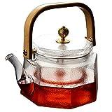 PAYNAN Tetera de cristal resistente al calor de 800 ml de creatividad Kung Fu té Ceremonia de té