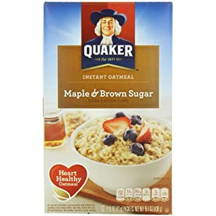 Quaker Instant Oatmeal Maple & Brown Sugar 404g