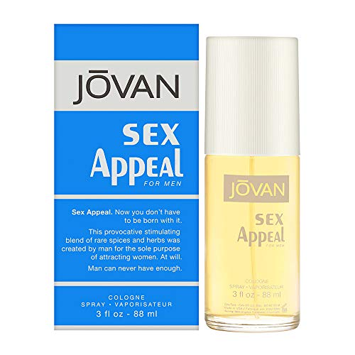 Jovan Sex Appeal by Coty for Men 3.0 oz Cologne Spray