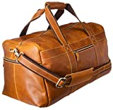 Viosi Genuine Leather Travel Duffel Bag | Oversized Weekend Luggage | Buffalo Leather Duffle Bag For Men/Women | Sports Gym Overnight Carry-On Bag | Great Gift Idea (19' Hunter)
