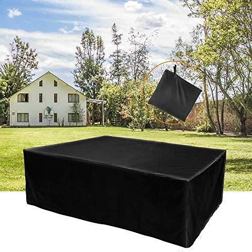Little East Meubelset rechthoekig, tuintafel cover grote dekzeil outdoor zwart duurzaam meubilair cover