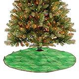 ThinkingPower Falda de árbol de Navidad nutritiva opciones veganas para decoración de fiestas de Navidad, cubre una gran cantidad de espacio debajo del árbol, diámetro de 76,2 cm