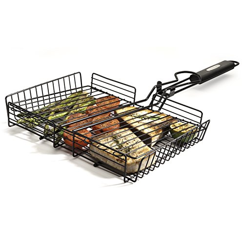 Cuisinart Deluxe Grill Set, 20-Piece, CGS-5020, Stainless Steel & CNTB-422 Simply Grilling Nonstick Grilling Basket