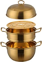 Special/Simple 1 Pcs Steamer Pot Stainless Steel Three Layer Thick Gold Steamer Pot Soup Steam Pot Cooking Pots Cooker Gas...