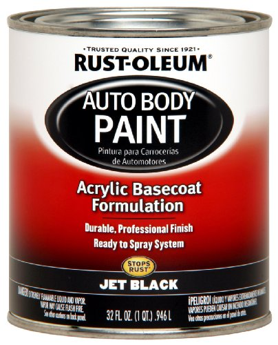 Rust-Oleum Automotive 253500 32-Ounce Autobody Paint Quart, Jet Black