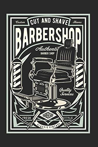 Schedule Planner 2020: Schedule Book 2020 with Barbershop Retro Cover | Weekly Planner 2020 | 6' x 9' | Flexible Cover | Do to list | Goal list | ... School | Gift idea for Birthday or Christmas