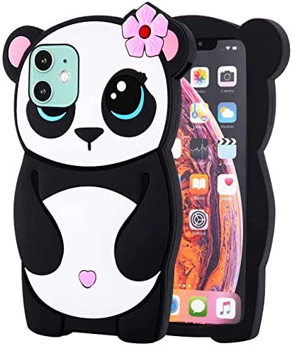 Oqplog Case for iPhone 11 Cartoon Cute 3D Kawaii Fun Panda Kids Design Soft Silicone Cover Cool product image