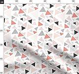 Dreiecke, Geometrisch, Struktur, Handgemalt, Retro,