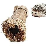 Oncpcare Tunnel de cochon d'Inde à mâcher pour hamster et hamster de petits animaux Cacher hérisson Hideaway jouets pour animaux domestiques Chinchilla Gerbil Rongeurs