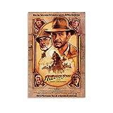 BGRGU Indiana Jones Poster, Vintage-Filmposter, 90er-Jahre,