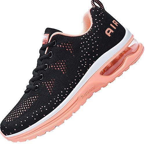 Impdoo Women's Air Athletic Running Sneaker Cute Fitness Sport Gym Jogging Tennis Shoes(Orange US 7B(M)