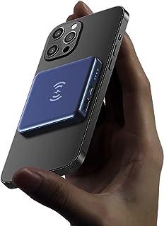 Powerbank voor magnetische draadloze oplader, draagbare magnetische oplader 5000 mAh USB C noodstroomvoorziening, geschikt...