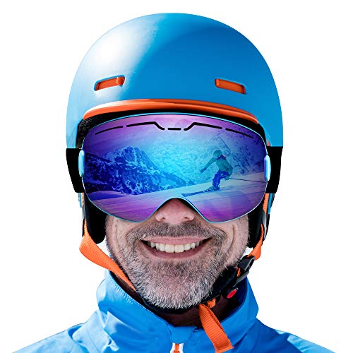 ROGSFN Ski Goggles for Men Womens & Youth Skiing Frameless 100% UV Protection,ski Snowboard Goggles