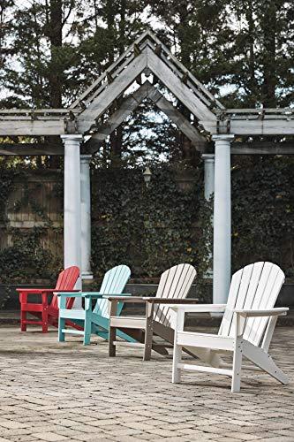 Ashley Furniture Signature Design - Sundown Treasure Outdoor Adirondack Chair - Hard Plastic - Slat Top - Turquoise