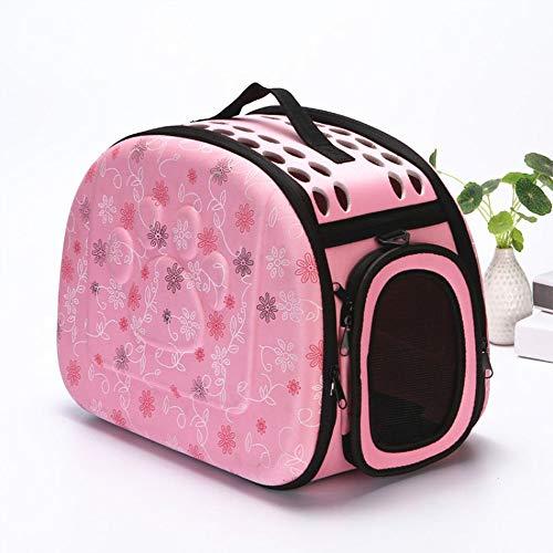DjfLight ademende draagbare tas voor katten, reistas, voor honden, draagbaar, opvouwbaar, voor huisdieren, rugzak, hond in de vorm van een kat, schouderriem, zwart, roze, grijs, champagne, Roze