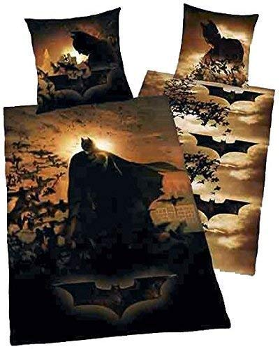 Lenzuola Herding BATMAN STAMPA FOTO THE DARK CAVALIERE ZIP 135 X 200 Cm NUOVO - All-In-One-Outlet-24