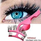 False Eyelashes Applicator Tool Stainless Steel Fake Eyelashes Extension Tweezers Remover Clip Tweezers Nipper for Magnetic Eyelashes
