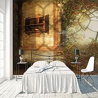 3D大型ポスターステッカー サンシャインフラワー 壁紙壁画 DIY不織布壁紙壁画HD印刷アートカスタマイズ可能なサイズのリビングルーム 寝室 の家の装飾 120X100cm (47X39inch)