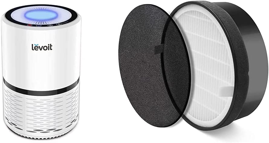 LEVOIT Air Purifier Max 85% OFF for High order Home H13 pack HEPA Whit Filter True 1