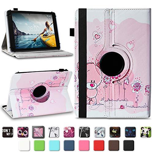 Tablet Schutzhülle für Medion E6912 aus hochwertigem Kunstleder Hülle Tasche Standfunktion 360° Drehbar kombiniert Schutz & Design in verschiedenen Farben Cover Hülle Universal , Farben:Motiv 1