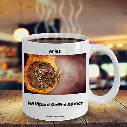 ArthuereBack Widder-RAM-grappige dierencirkel-sterrenbeeld-koffiemok A2 groot verjaardagscadeau voor de koffieliefhebbers geboren op 21 maart 19 april