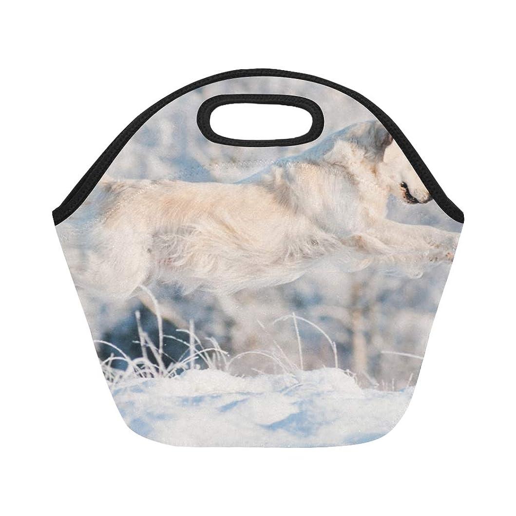 花輪フラグラントアラームXHQZJ ランチバッグ スポーツ中の犬 弁当袋 お弁当入れ 保温保冷 トート 弁当バッグ 大容量 トートバッグ