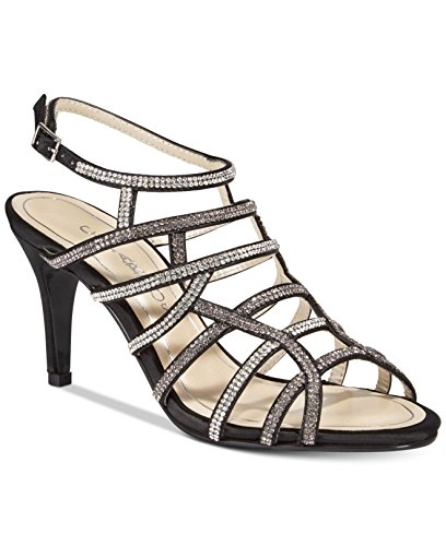 Caparros Womens Harmonica Open Toe Special Occasion Strappy, Black, Size 10.0