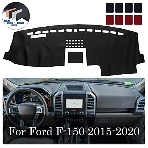 BDFHYK Dashboard Dash Cover PU Dash Mat Compatible for 2015-2020 Ford F150