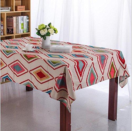 GFYWZ Table à Manger carrée avec Chiffon de Toile, 140 * 220