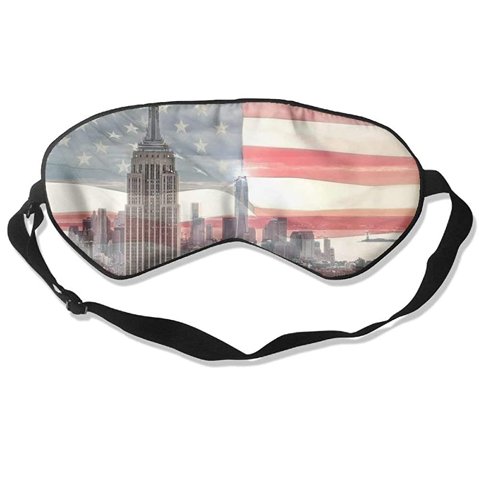 HANBINGPO Sleeping Mask American Flag New York City Unisex Eye Mask Cover Eyeshade WhiteOne Size