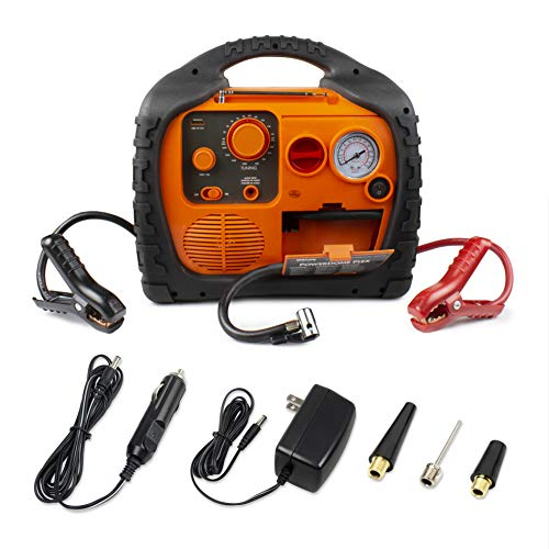 Wagan EL7561 Power Dome PLEX Battery Portable 1000 Amps Jump Starter Air Compressor 800 Watt Peak Surge Power Inverter